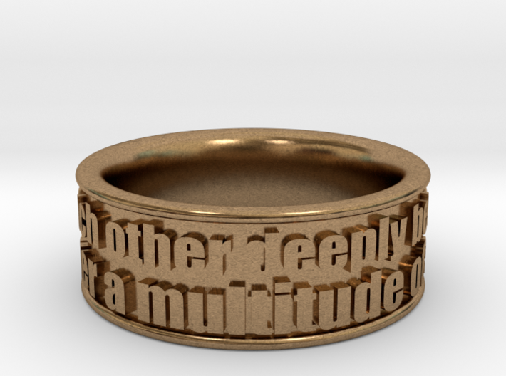 Bible Verse Ring Size 7.5 3d printed