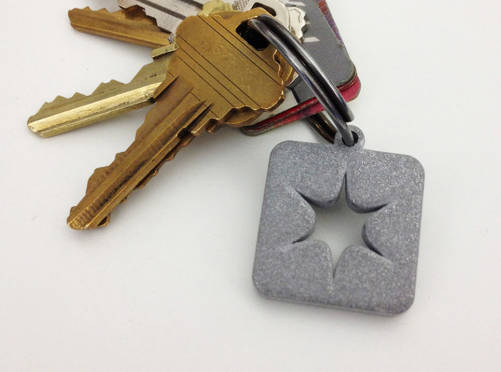 Shapeways Spark Keychain 3d printed Printed in Alumide