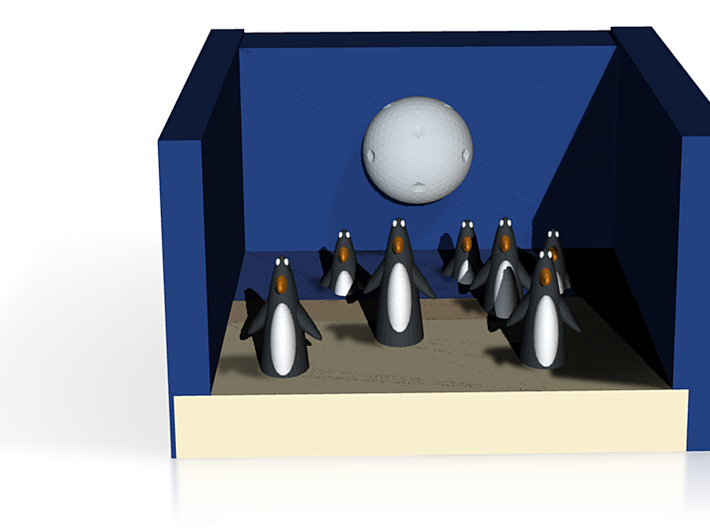 The Penguins Come Home At Night 3d printed