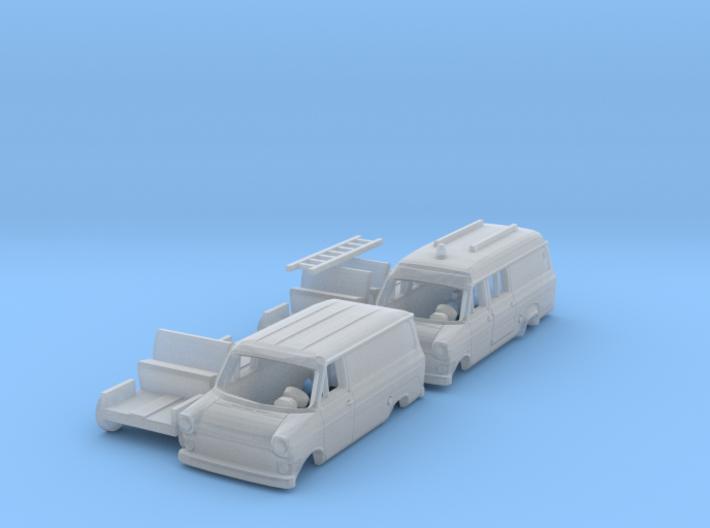SET 2x Ford Transit Mk1 (N 1:160) 3d printed