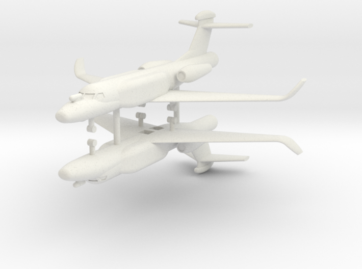 1/285 G550 Conformal Airborne Early Warning (x2) 3d printed 1/285 G550 Conformal Airborne Early Warning (x2)