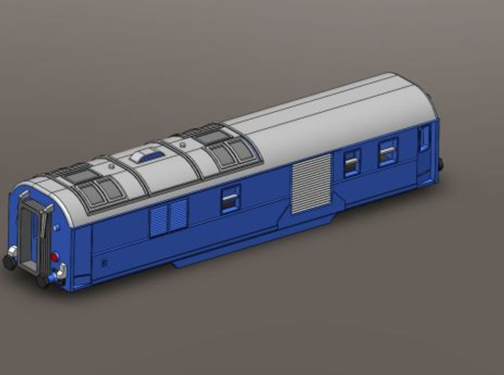 SNCF French Mistral Generator Wagon Z-Scale 1/220 3d printed Add a caption...