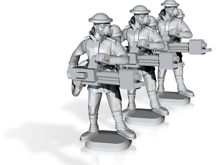 15mm Anglian Flamethrowers (x3) 3d printed