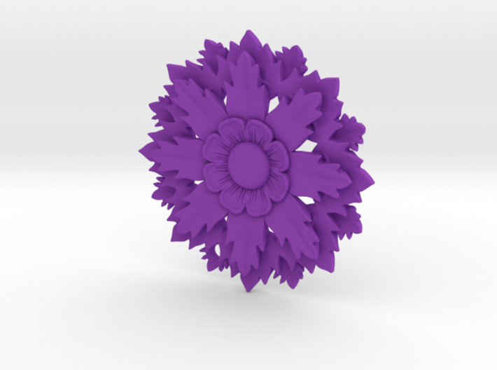 Flower Pendant With Hole 3d printed