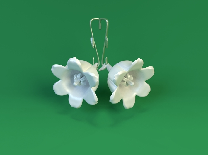 Lily Of The Valley Earrings 3d printed Earring Hook / Needle not Included.