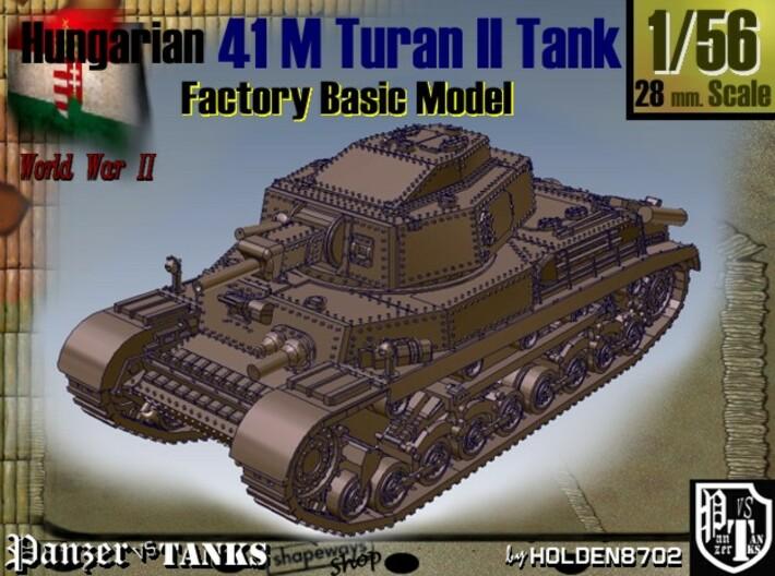 1-56 Hungarian 41M Turan II Basic 3d printed