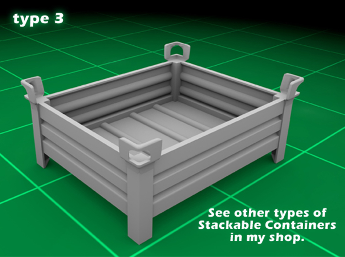 Stackable Container Type3 (1x) 3d printed