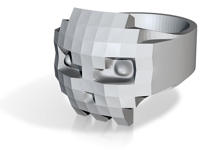 8bits Skull Ring size 63mm Ø20.1 3d printed