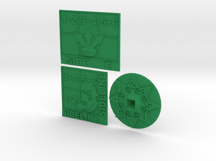 Blood Bowl Templates 3d printed