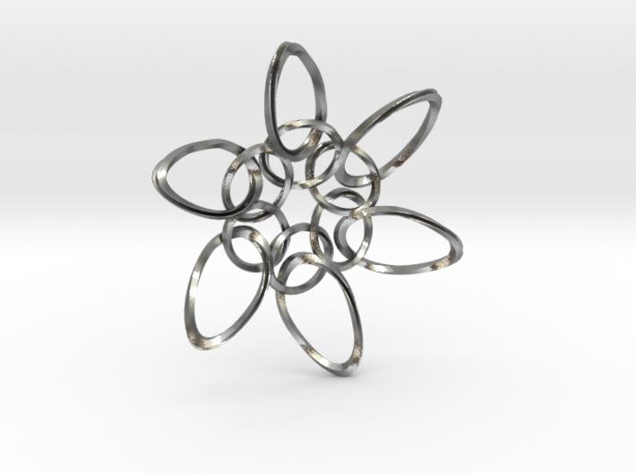 6 Ring PentaTwist - 6.6cm 3d printed