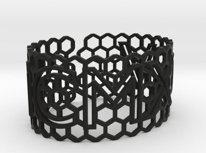 Roman birthday honeycomb bangle (add $80) 3d printed