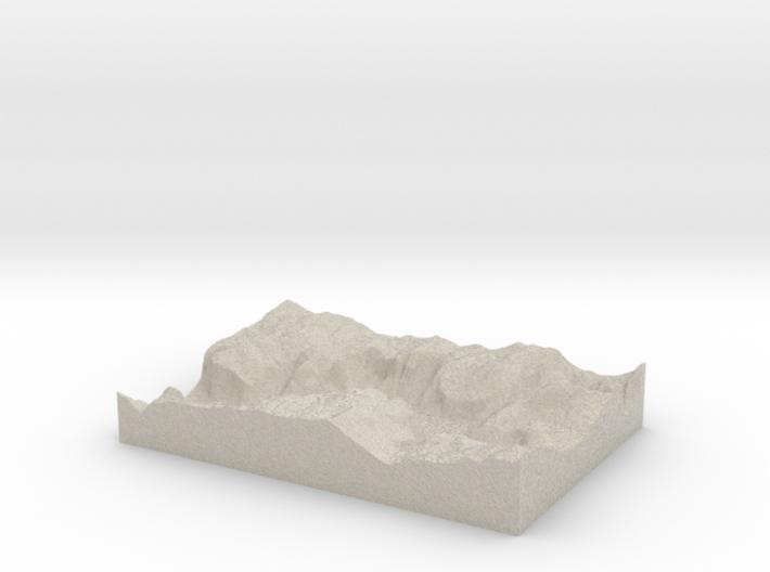 Model of Moran Point 3d printed