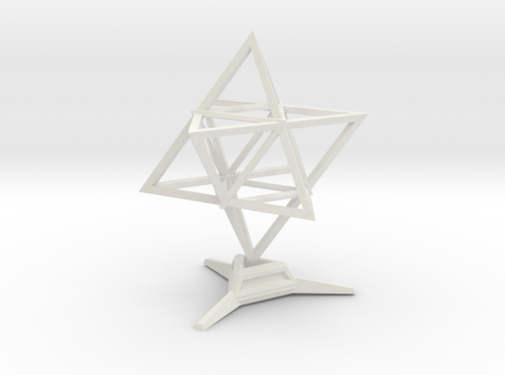 Merkaba Wire 1 W Base 5cm 3d printed