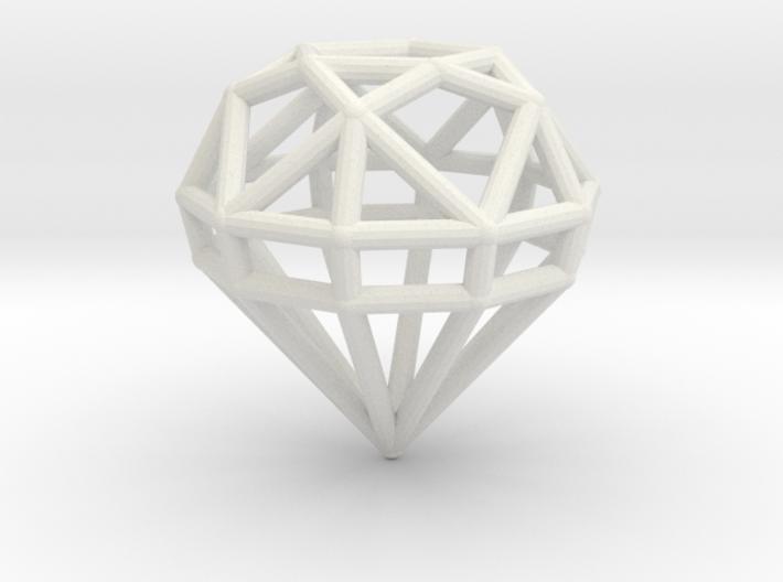 Gem Wire 5 Facets 3cm 3d printed