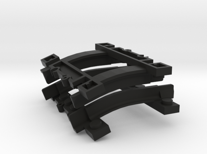 Rail parts for Lego Trains 3d printed
