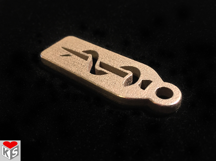 Medical Keychain 3d printed Product Photo of Stainless Steel.