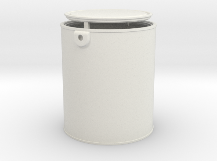 1/6 Scale Gallon Paint Can 3d printed