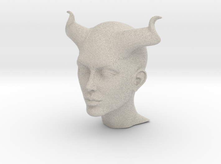 Beautiful Devil face 3d printed
