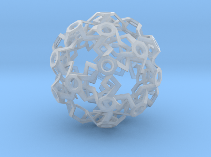 HiTech Sphere - Impossible Structure 3d printed
