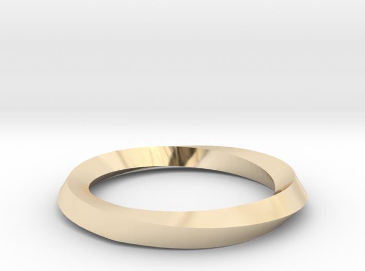 Mobius Wedding Ring-Size 6 3d printed