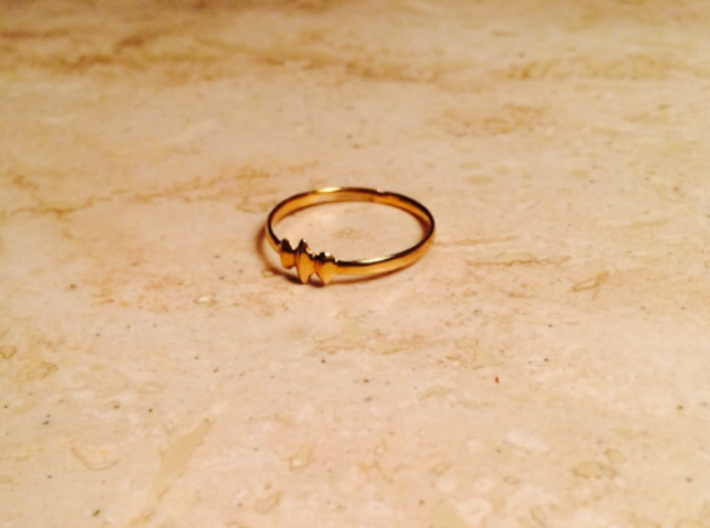 Elleve Ring US Size 8 5/8 UK Size R 3d printed Gold Plated Brass