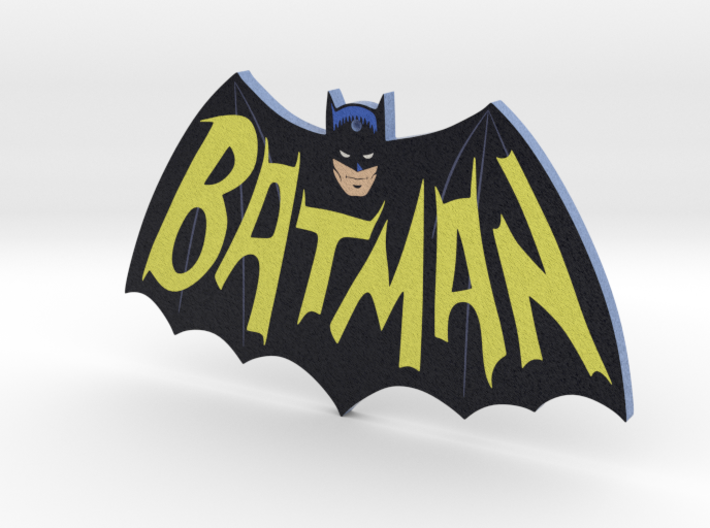 Bat-logo Ornament 3d printed