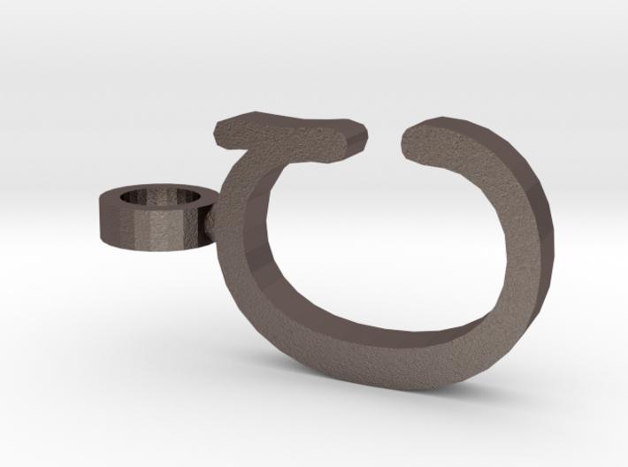 C Letter Pendant 3d printed