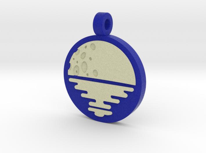 'Moonrise' Jewelry Pendant in Sandstone 3d printed