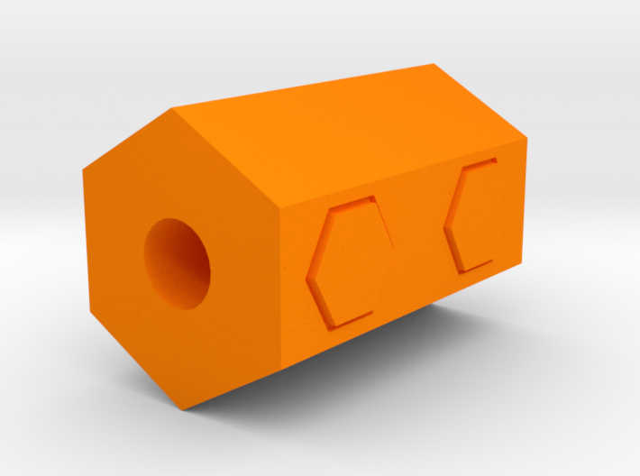 Hexagon Airsoft Muzzle Suppressor (14mm Self-Cutti 3d printed