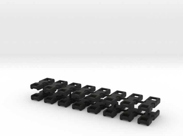 1/6 Scale 3mm Quick Buckles X16 3d printed