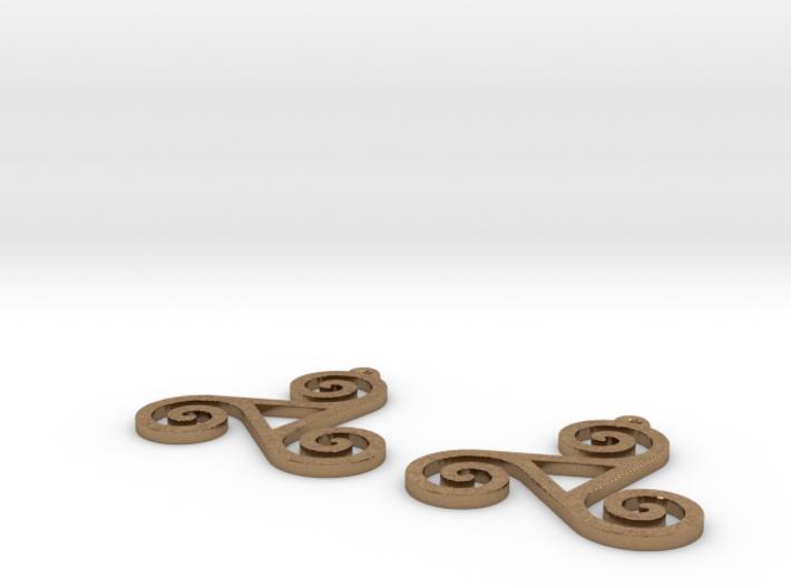 Triskele Earrings 3d printed
