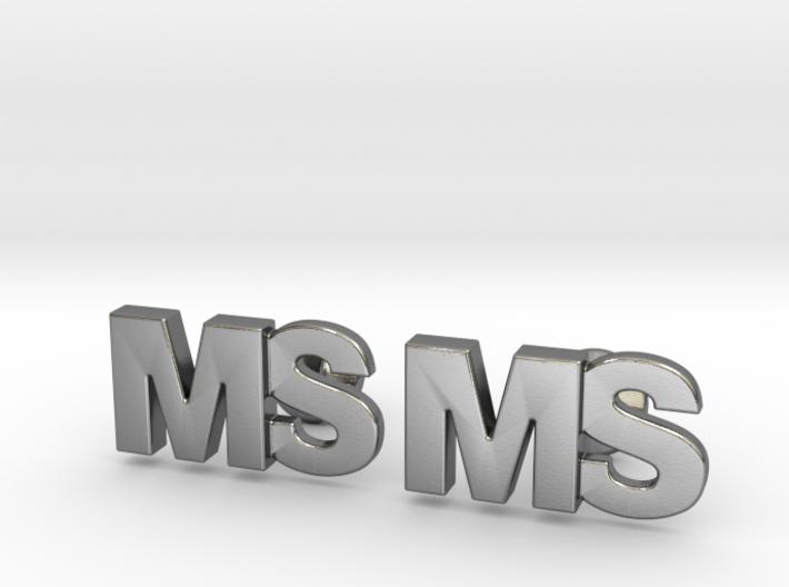 Monogram Cufflinks MS 3d printed
