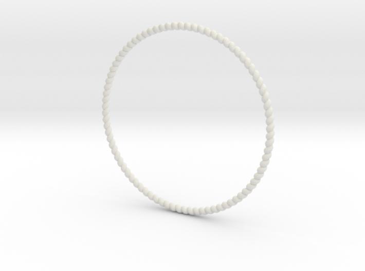 TinyTwist Bangle Bracelet SMALL 3d printed