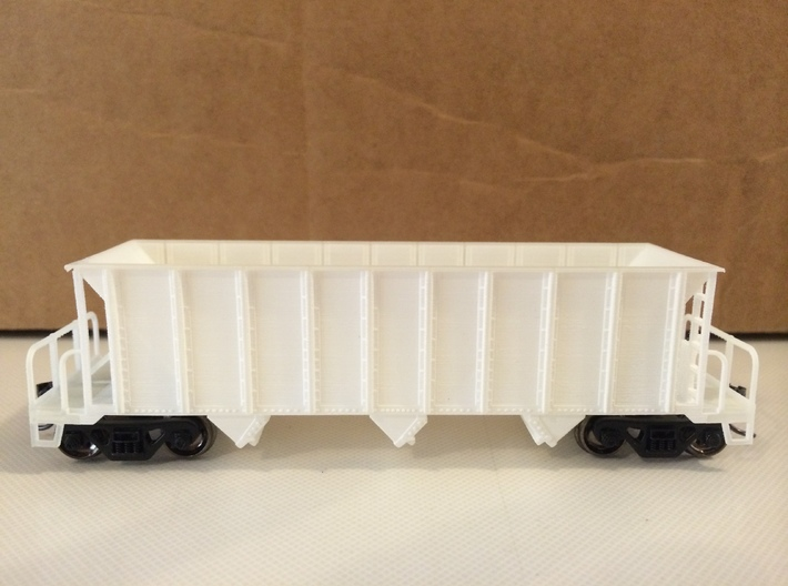 HO H-7-A/H-9 Hopper 3d printed Car before being cleaned