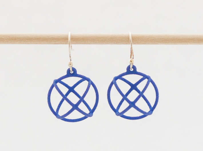Orbit Earrings 3d printed