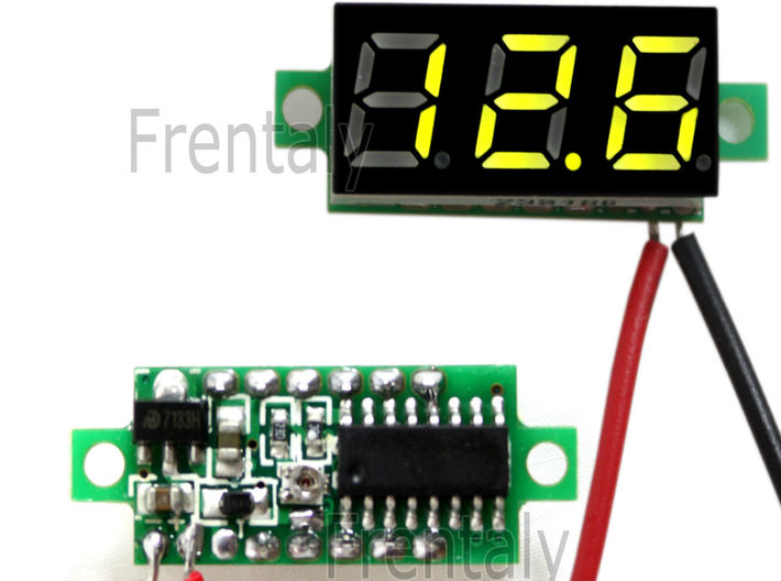 Mosfet Volt Meter V3a2a1 3d printed THIS TYPE OF METER BEZEL