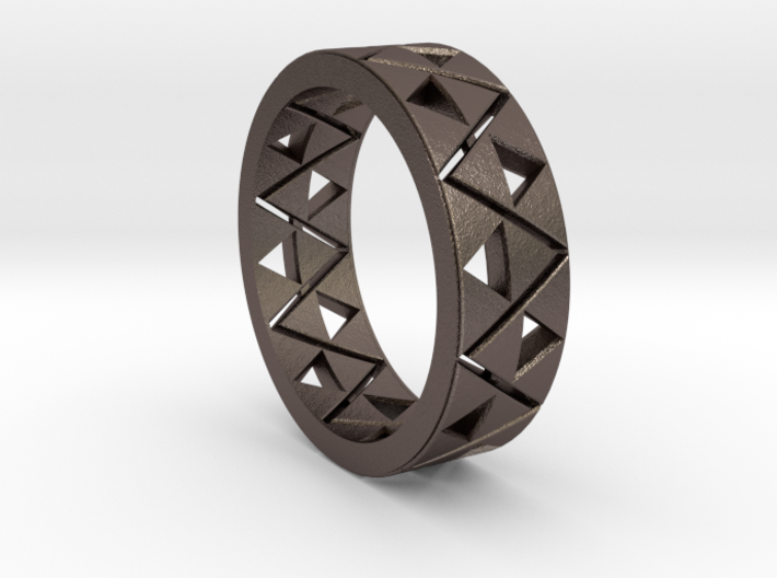 Triforce Ring Size 10 3d printed