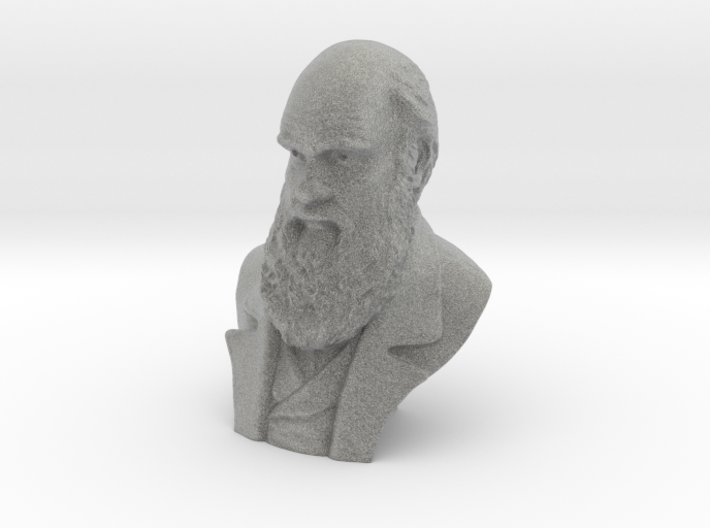 "Charles Darwin 4""Bust 3d printed"