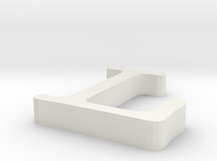 L Letter 3d printed