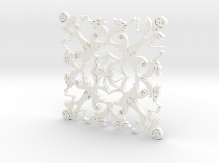 Nightmare Snowflake 3d printed