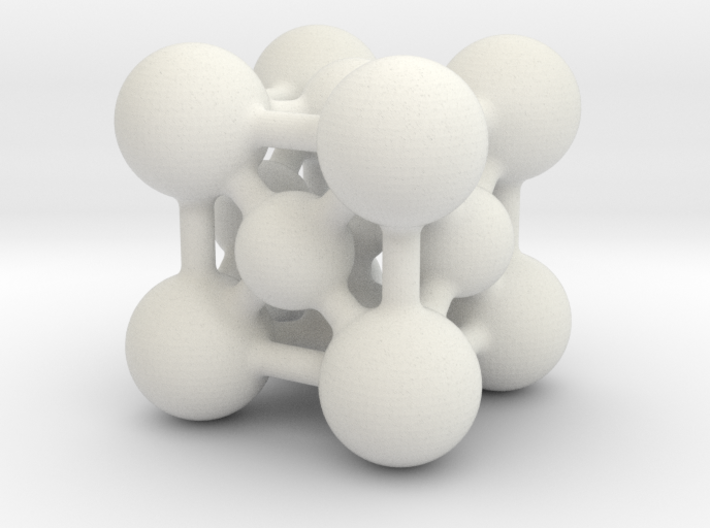 Perovskite (ABO3) Crystal Structure (4cm) 3d printed