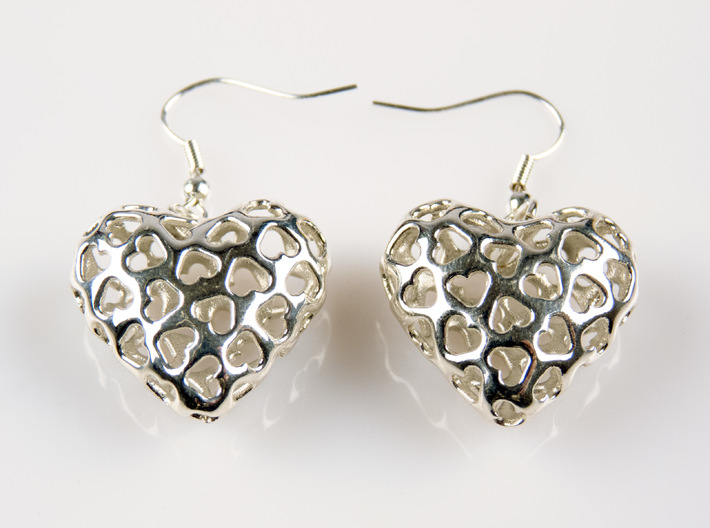 Small hearts, Big love (from $17.50) 3d printed Printed in polished silver
