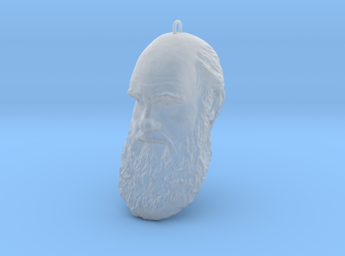 "Charles Darwin 6"" Head Decimated 3d printed"