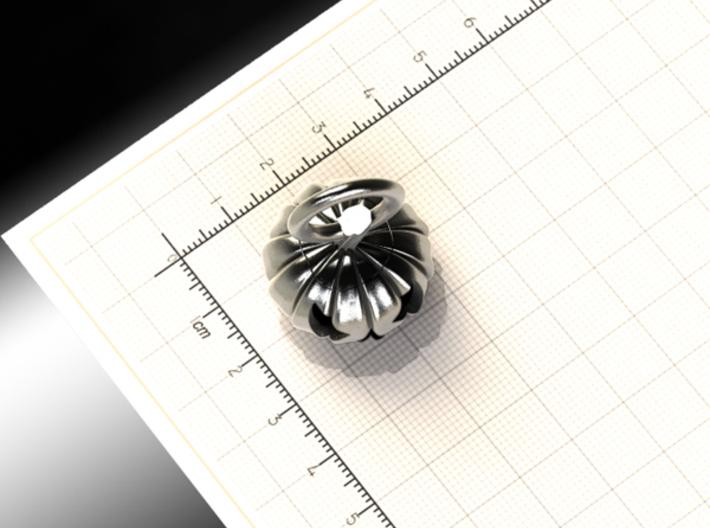 Halloween pumpkin keychain 3d printed