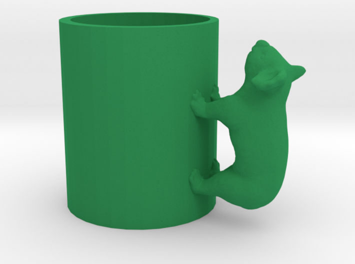 Koala Cup-porcelain Shapeways Test 3d printed