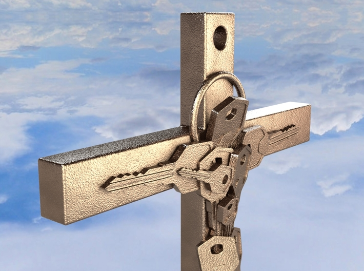 Jesus is the Key - REQUEST 3d printed Jesus is the Key in Polished Bronze Steel
