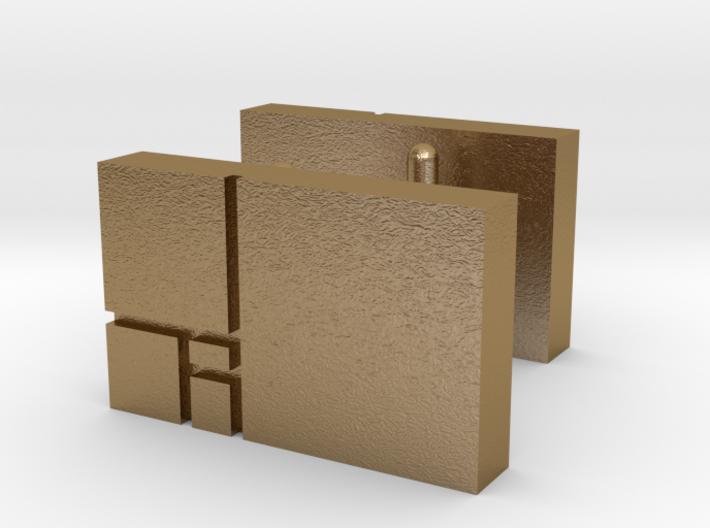 Golden Rectangle Cufflinks 3d printed