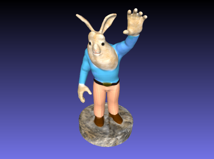 Buck Bunny Rabbit Full Color 3D Printer By Space3D 3d printed
