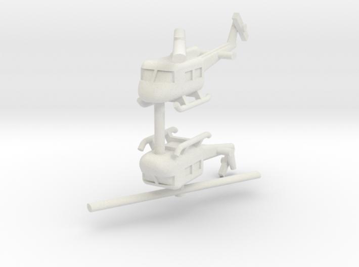 1/285 UH-1 Huey (x2) 3d printed