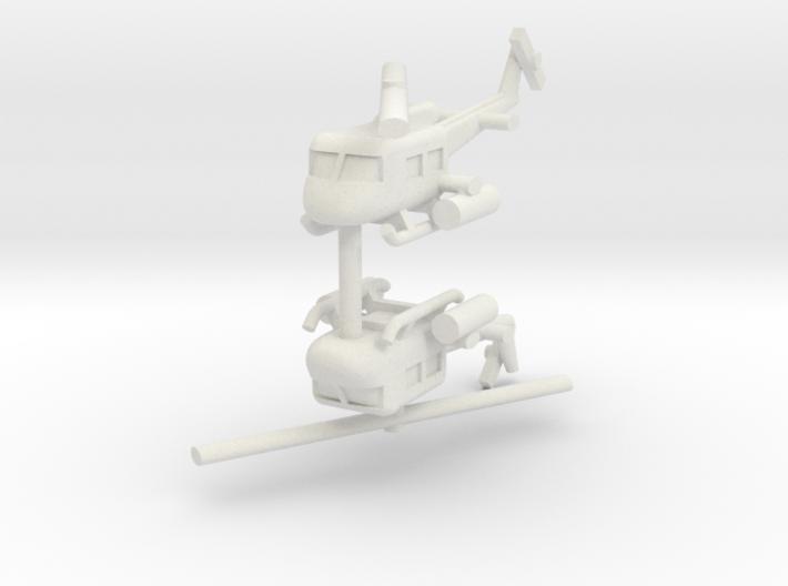 1/285 UH-1 Gunship (x2) 3d printed